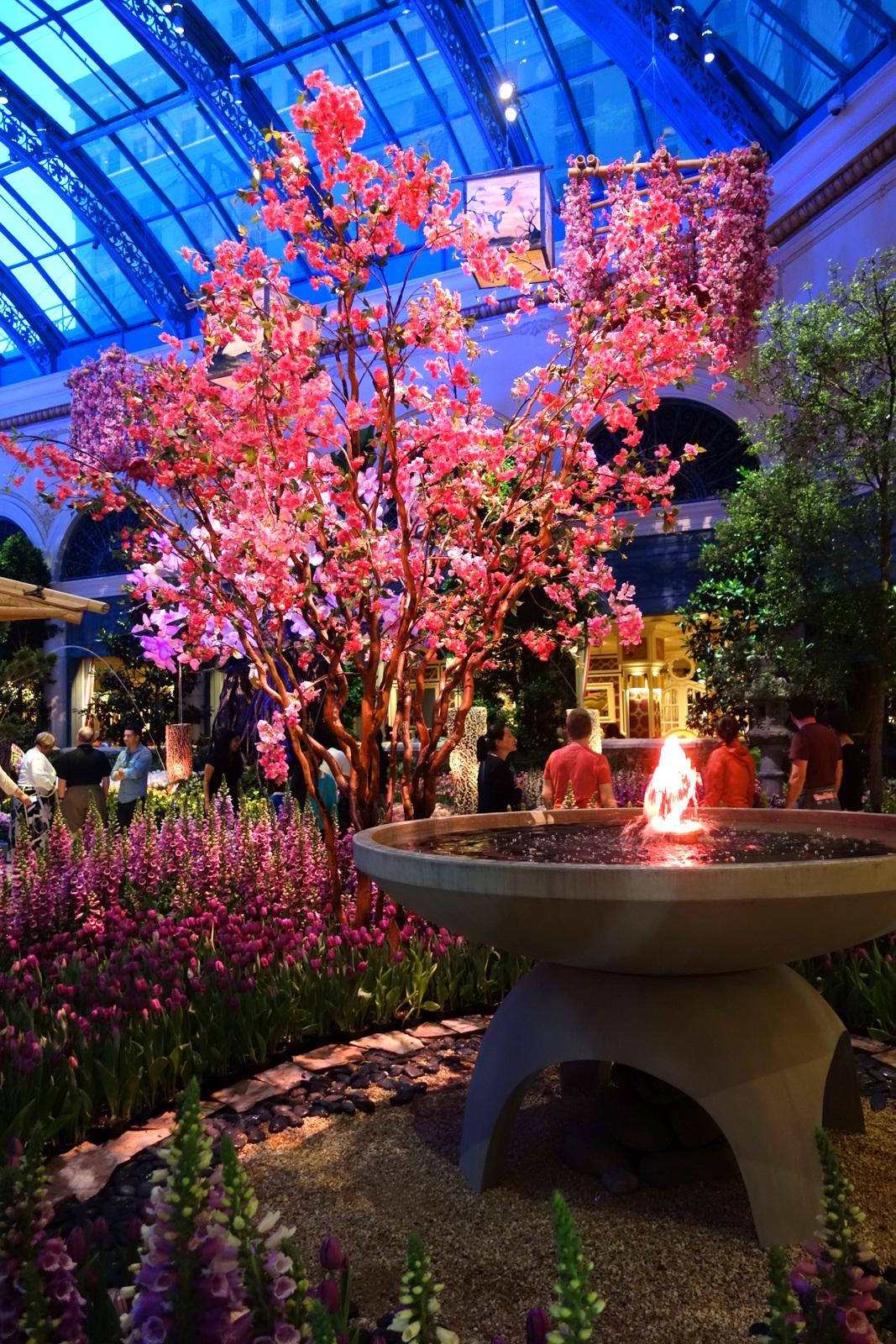 L'hôtel le Bellagio à Las Vegas : jardin botanique