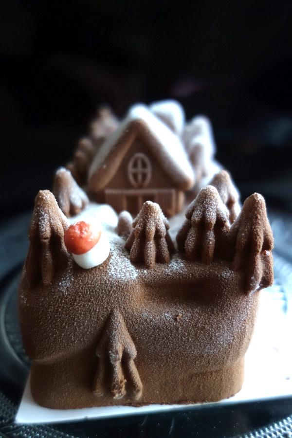 Il était une bûche glacée chocolat-vanille - Noël 2016 - Le blog de Lili