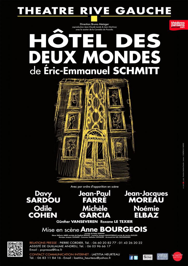 Hôtel des deux mondes - Théâtre Rive gauche - Affiche