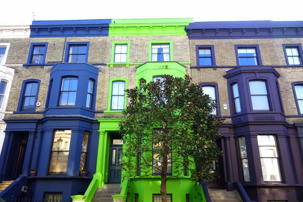Les rues de Notting Hill à Londres