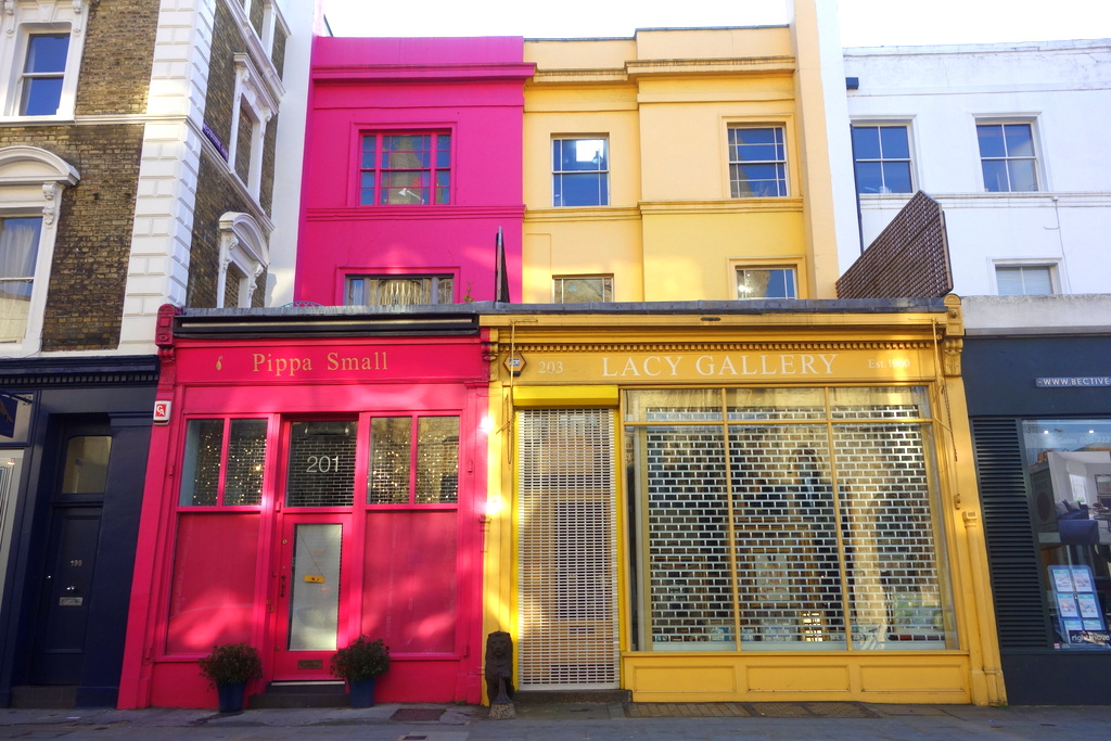 Les rues de Notting Hill à Londres