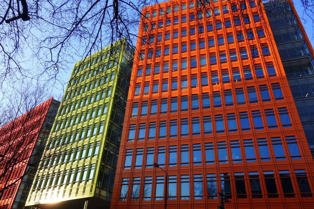 Immeubles modernes à Londres