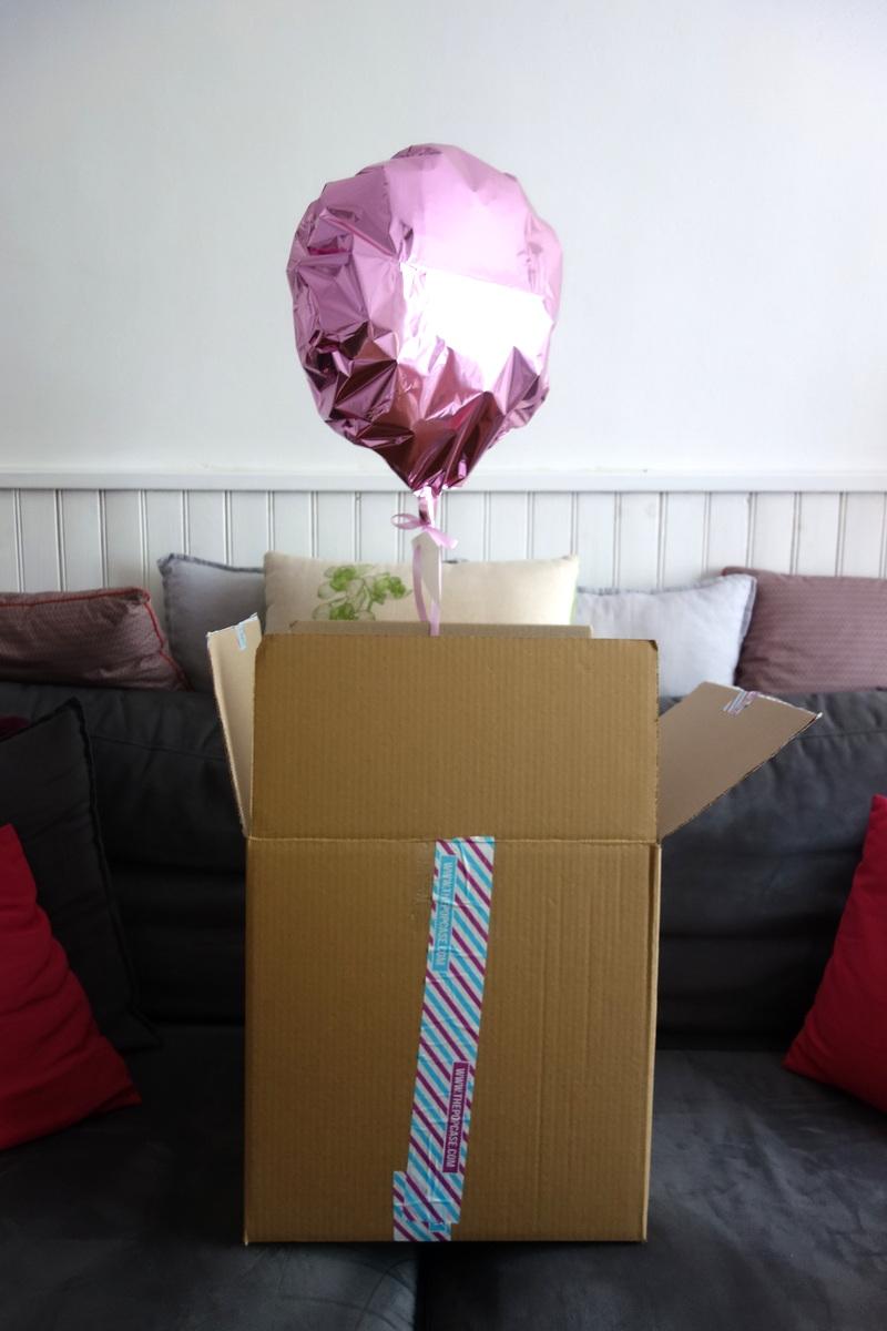 Ballon gonflé à l'hélium pour Monoprix