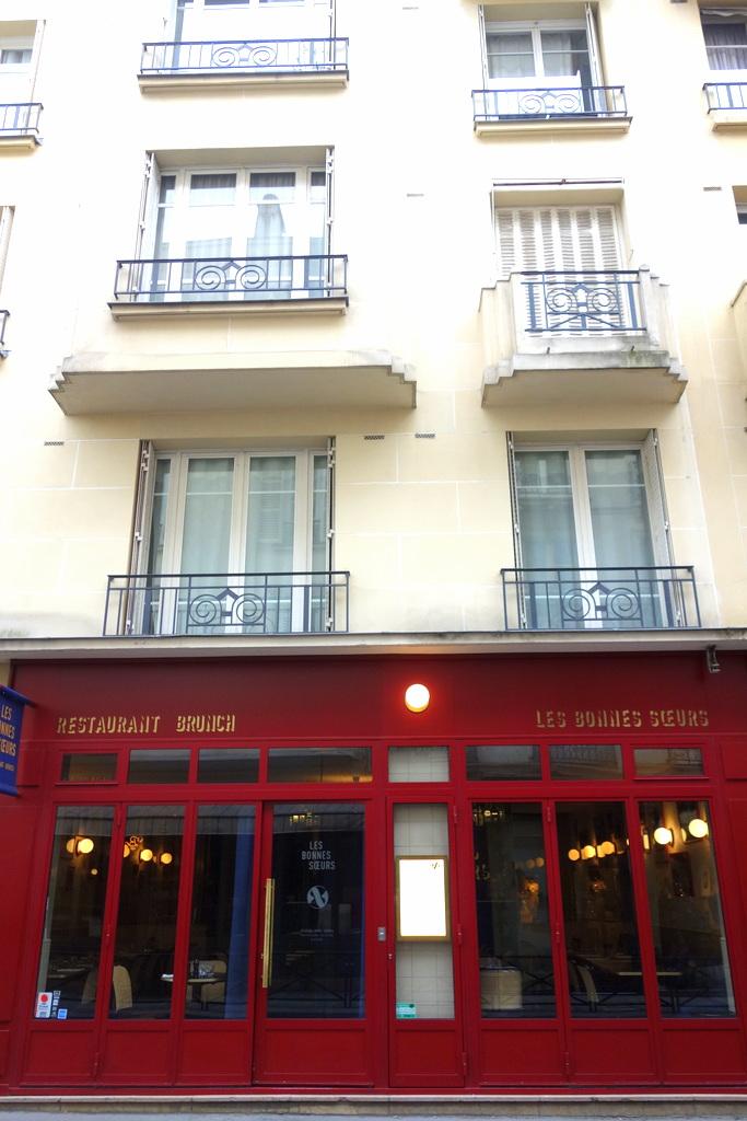 Restaurant les bonnes sœurs, place des Vosges Paris