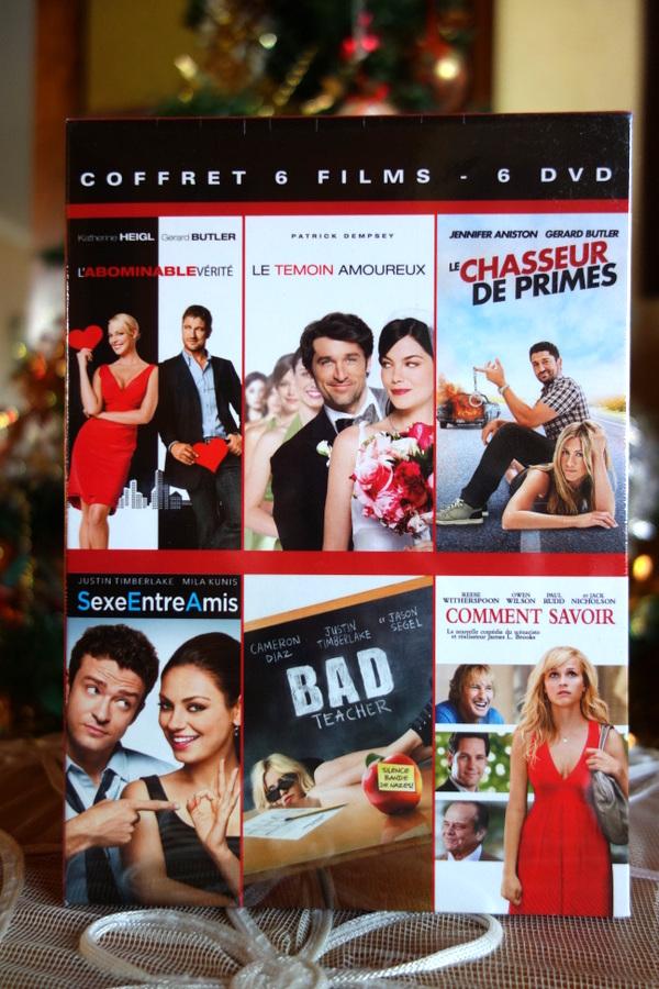 Six DVD de films de filles en coffret