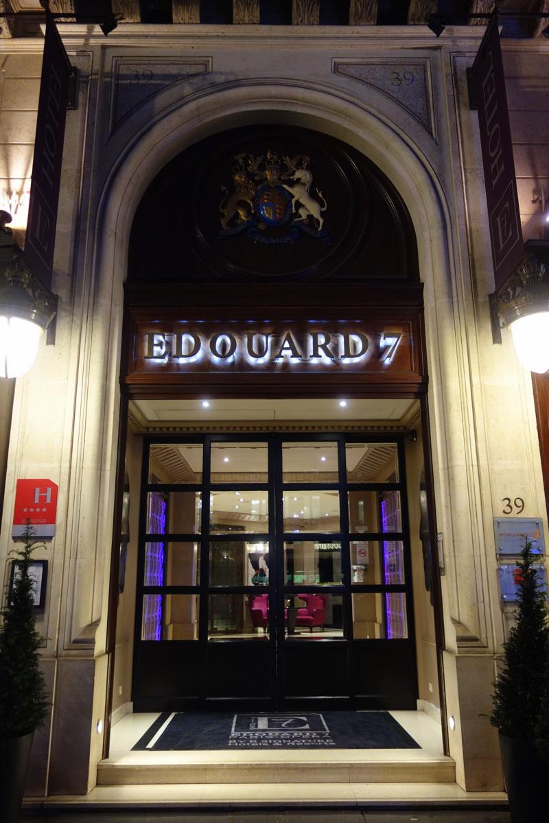 Bar de l'E7 - carte de Pierrick à l'hôtel Edouard 7 - Blog food Paris