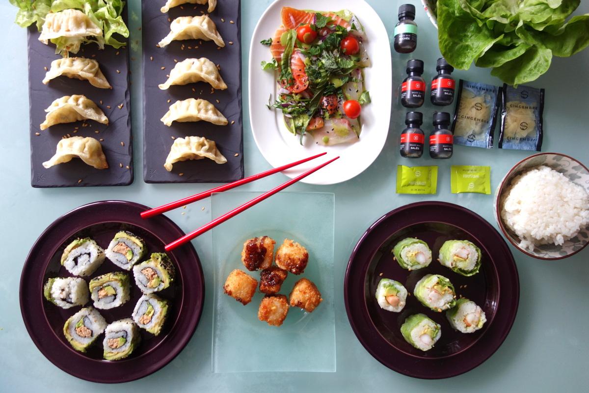 Notre commande Côté Sushi Alésia