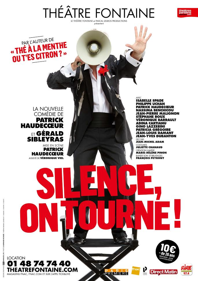 Silence, on tourne ! - Théâtre Fontaine - Affiche