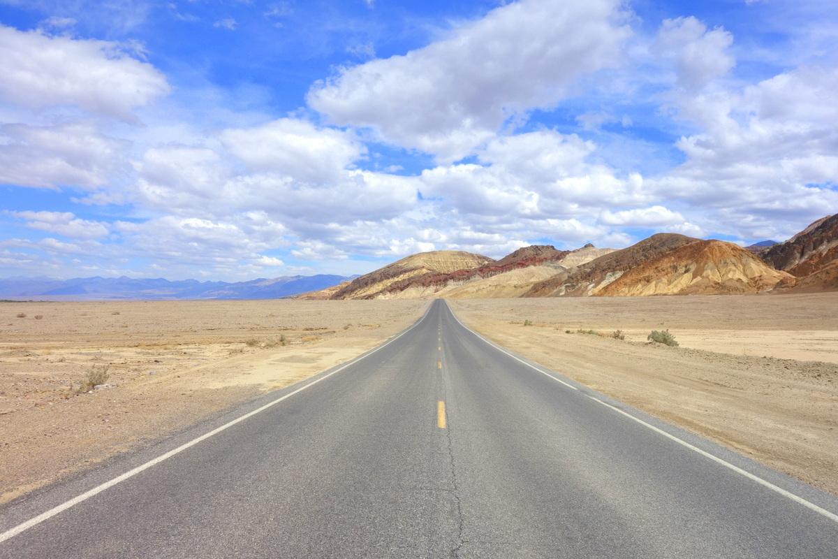 Sur la route de la Vallée de la mort