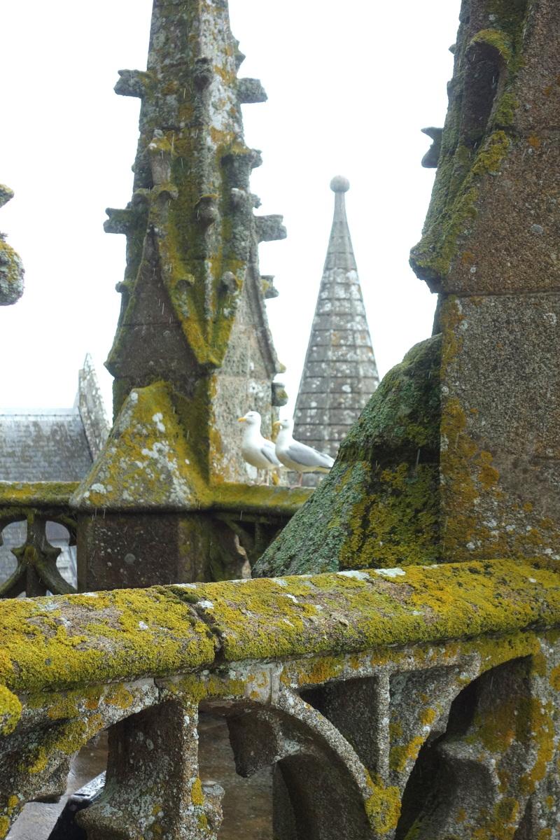 Mont-Saint-Michel - Sur les toits et l'escalier de dentelle