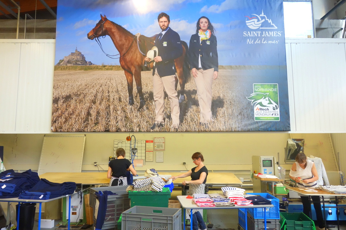 Visite des ateliers Saint James en Normandie