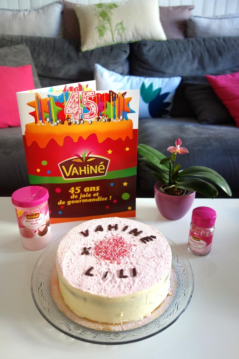 45 ans Vahiné - Gâteau d'anniversaire