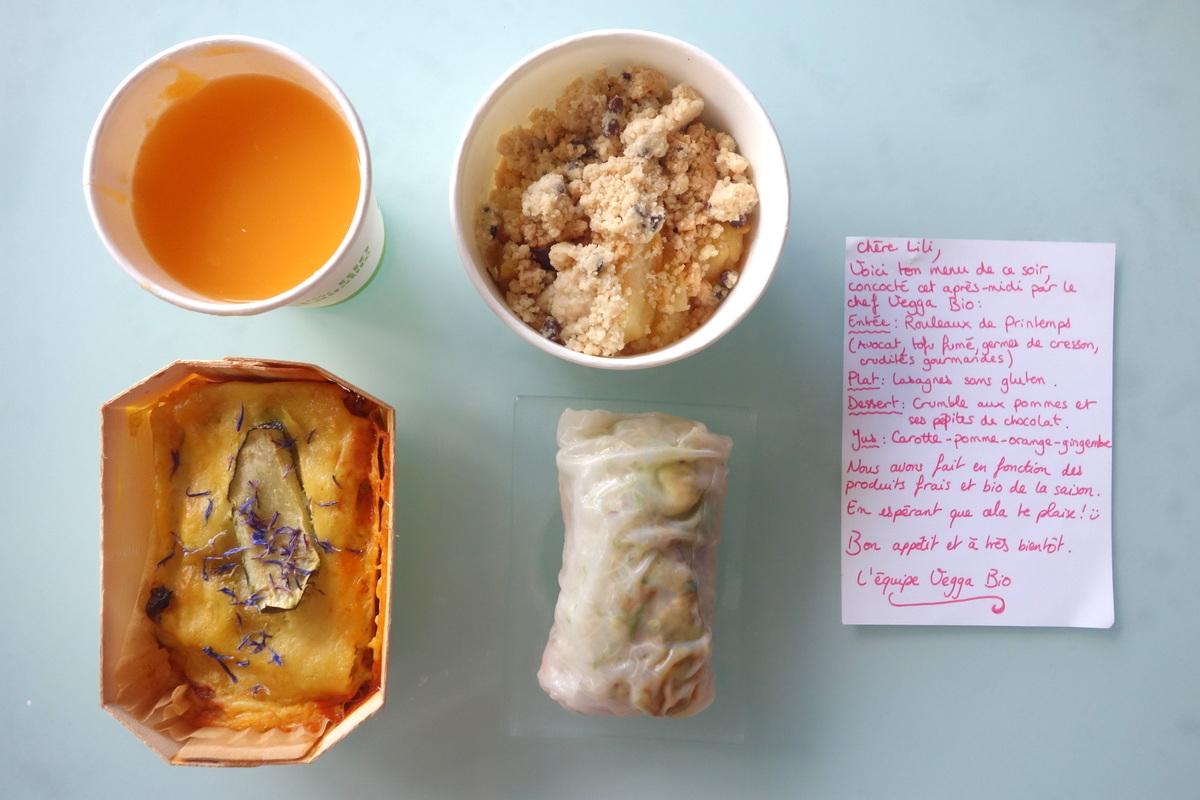 Vegga bio - Dîner végétarien et bio à domicile - Blog de Lili