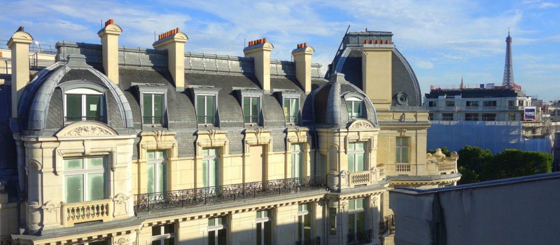 Terrasse Warwick Paris - Vue sur la tour Eiffel - Le blog de Lili