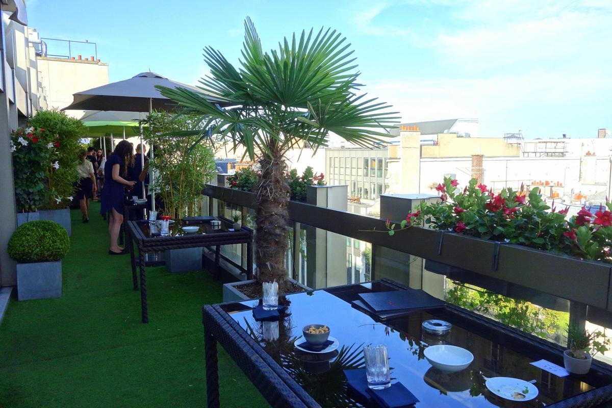 Bien connu Une soirée d'été sur la terrasse du Warwick Paris - Le blog de Lili VU08