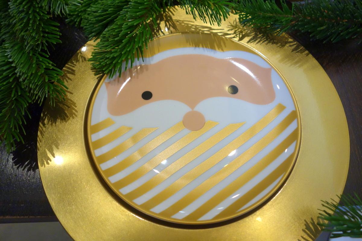 Monoprix Noël 2017 - Assiette de table de fêtes père Noël