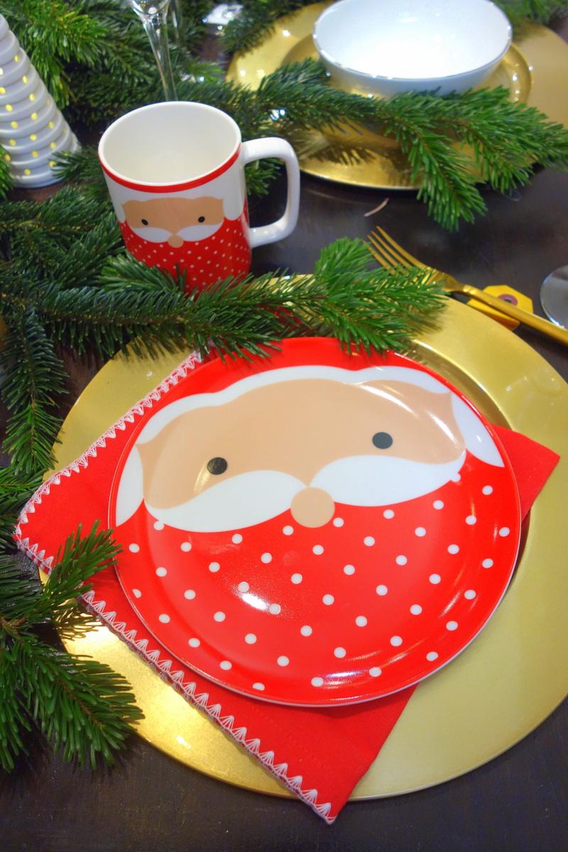 Monoprix Noël 2017 - Assiette de table de fêtes
