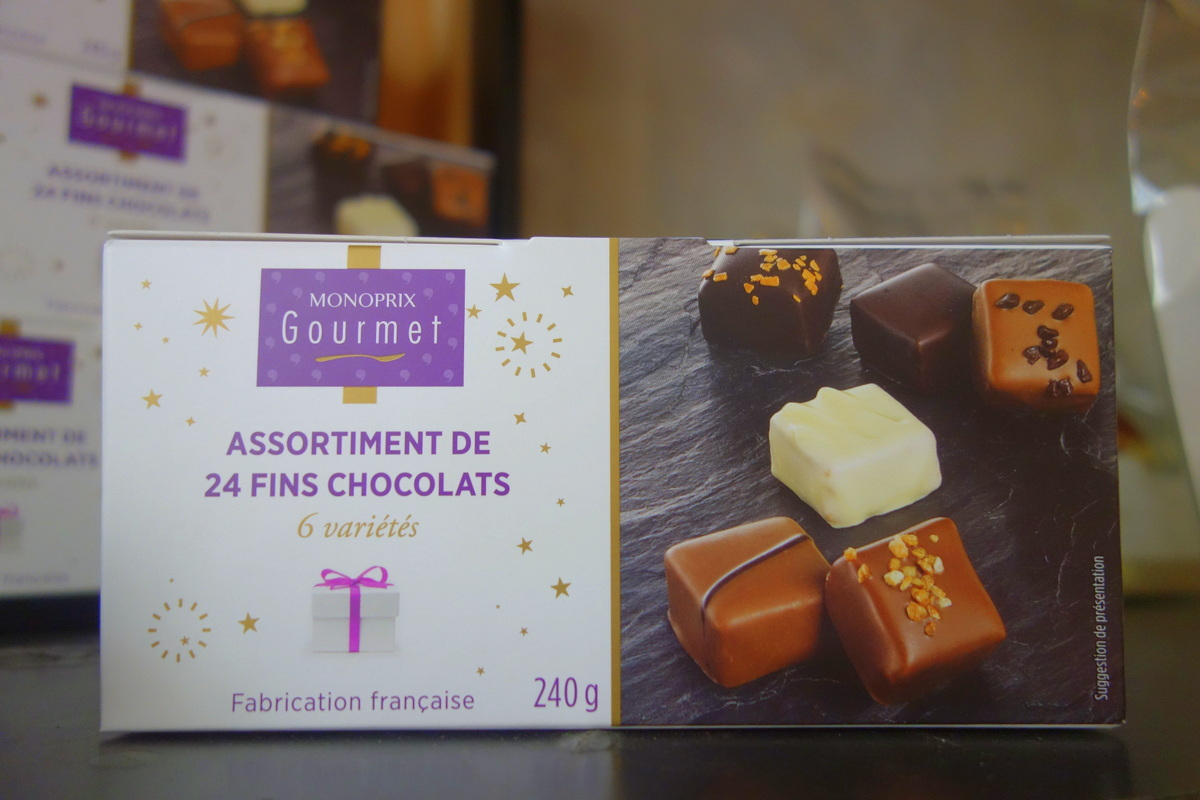Monoprix Noël 2017 : chocolats