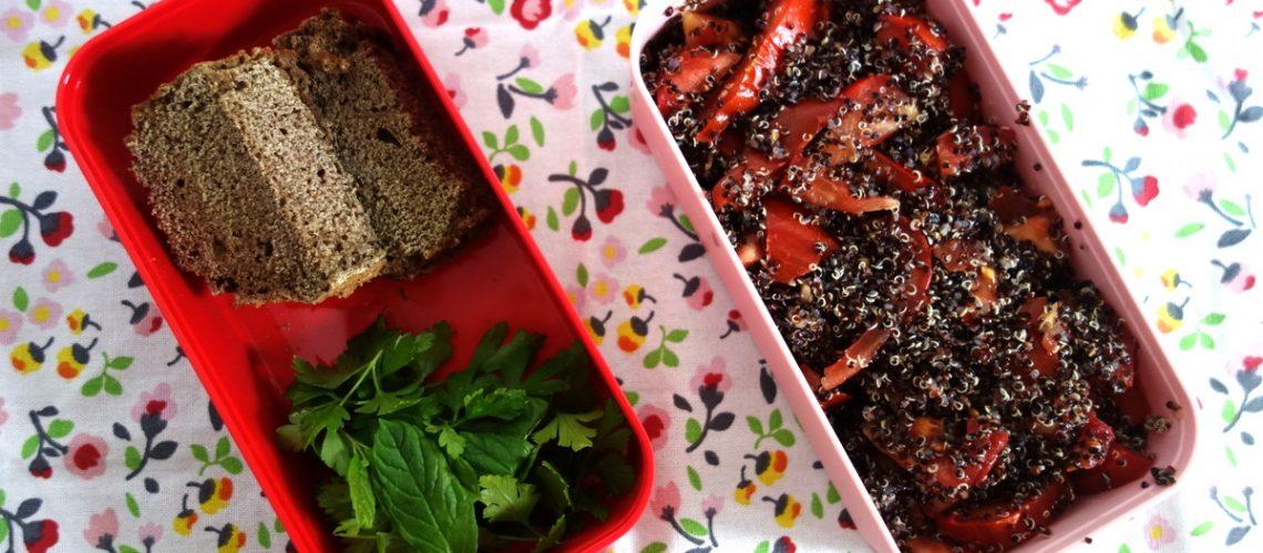 Un bento de quinoa pour le déjeuner