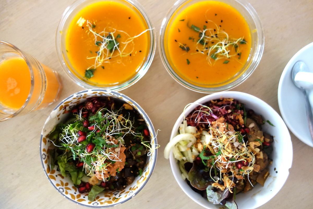 Brunch healthy à l'abattoir végétal à Paris