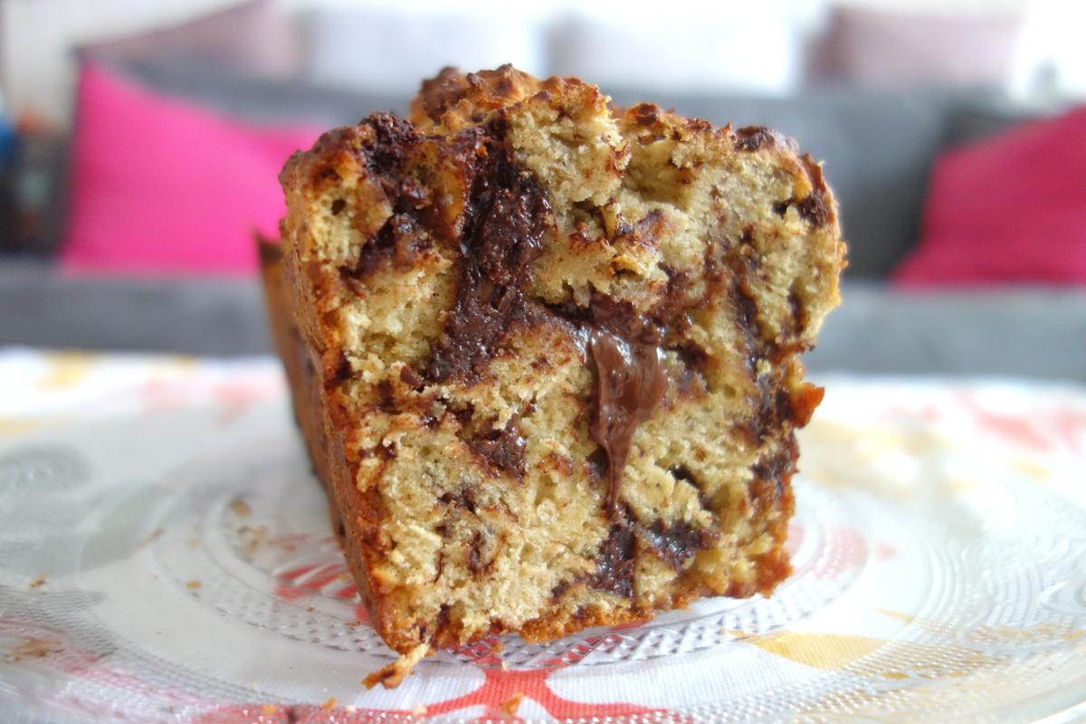 Cake chocolat-banane maison