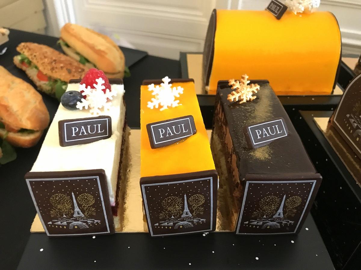 Boulangeries Paul : entremets de Noël 2017