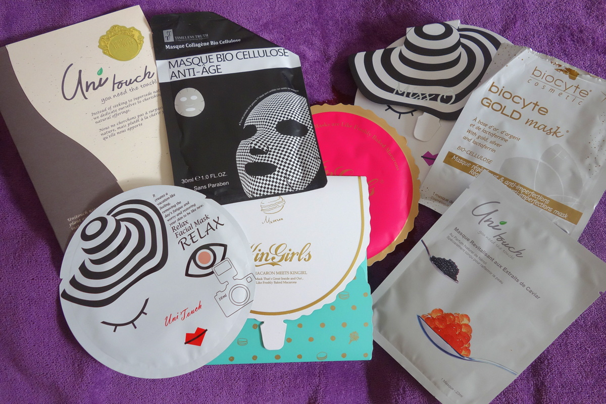 Masques de beauté en cellulose - Tests blog beauté