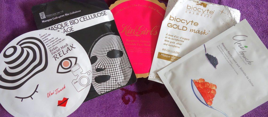 Masques de beauté en cellulose - Tests blog beauté