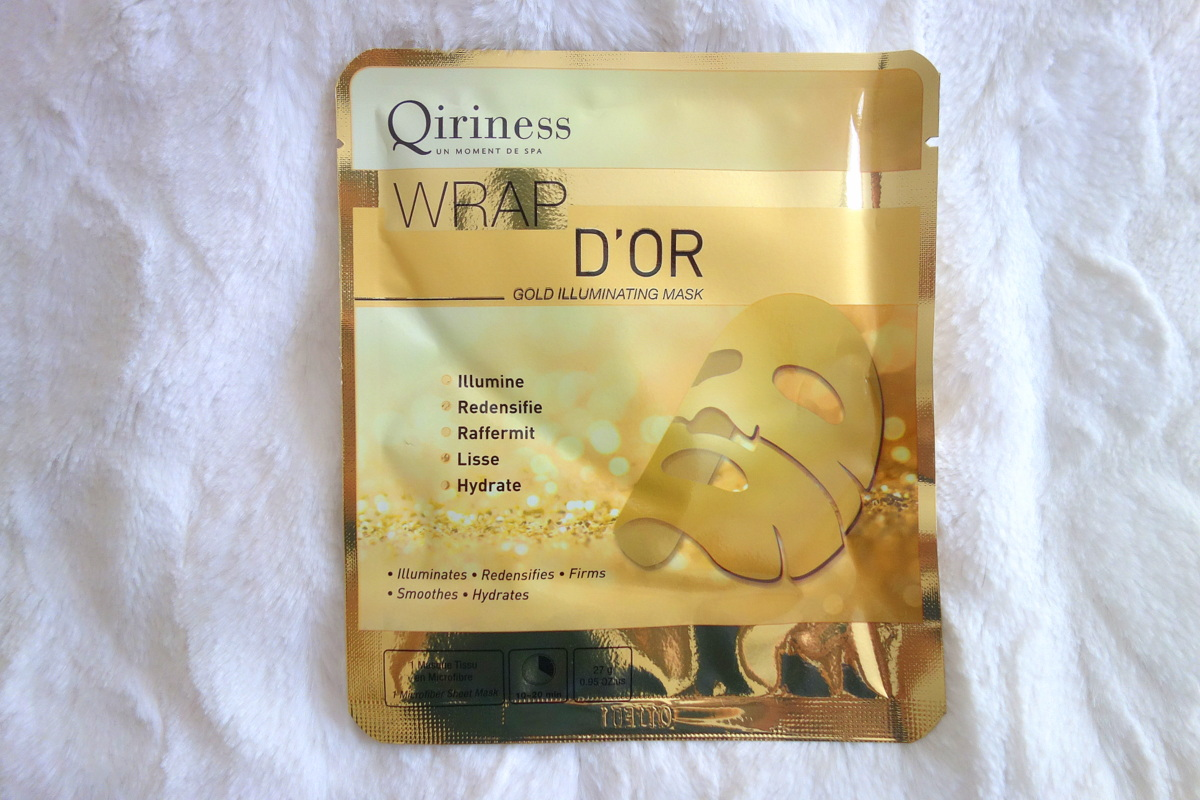Qiriness masque d'or - Blog beauté