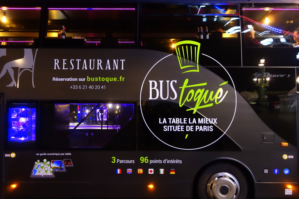 Le bus toqué - Dîner en bus à Paris