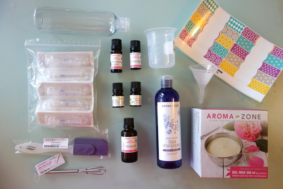 Aroma-Zone - Boutique boulevard Haussmann - Produits pour un shampoing maison