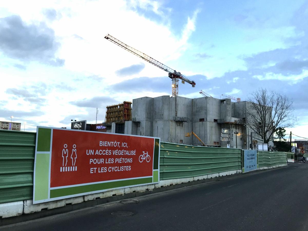 Vélizy 2 : chantier d'agrandissement pour 2019