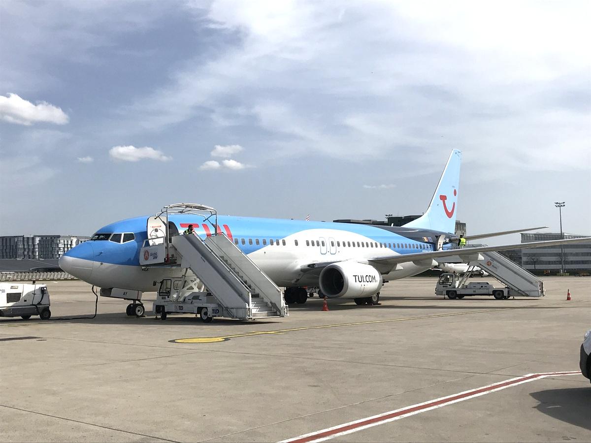 Notre avion tui, pour le retour à Roissy