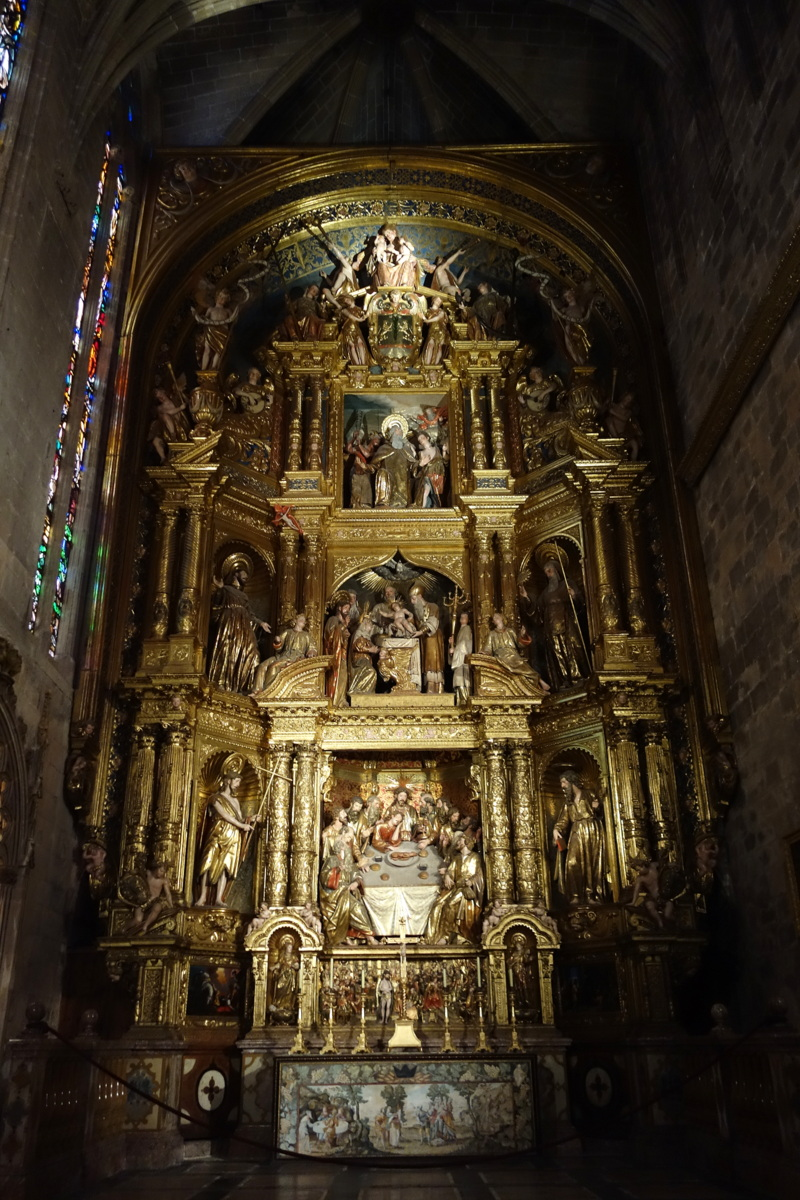 La cathédrale de Palma de Majorque, aux Baléares