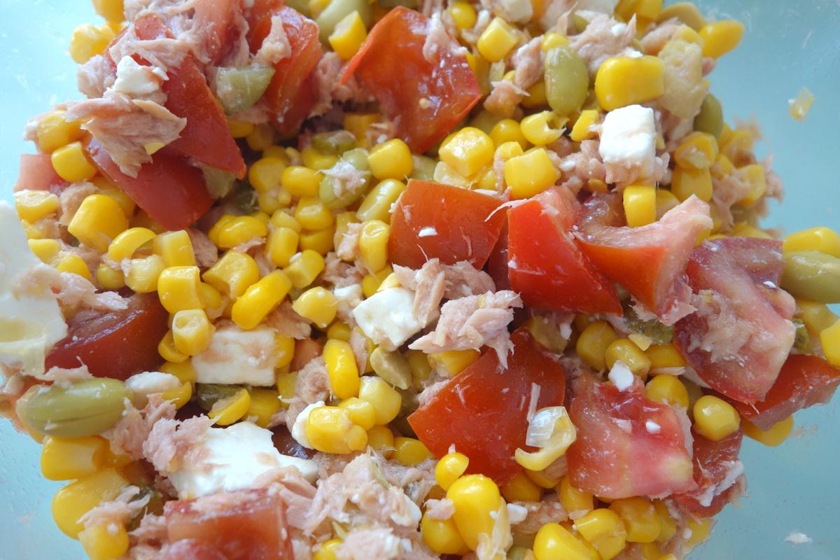 Salade composée avec les edamames Bonduelle