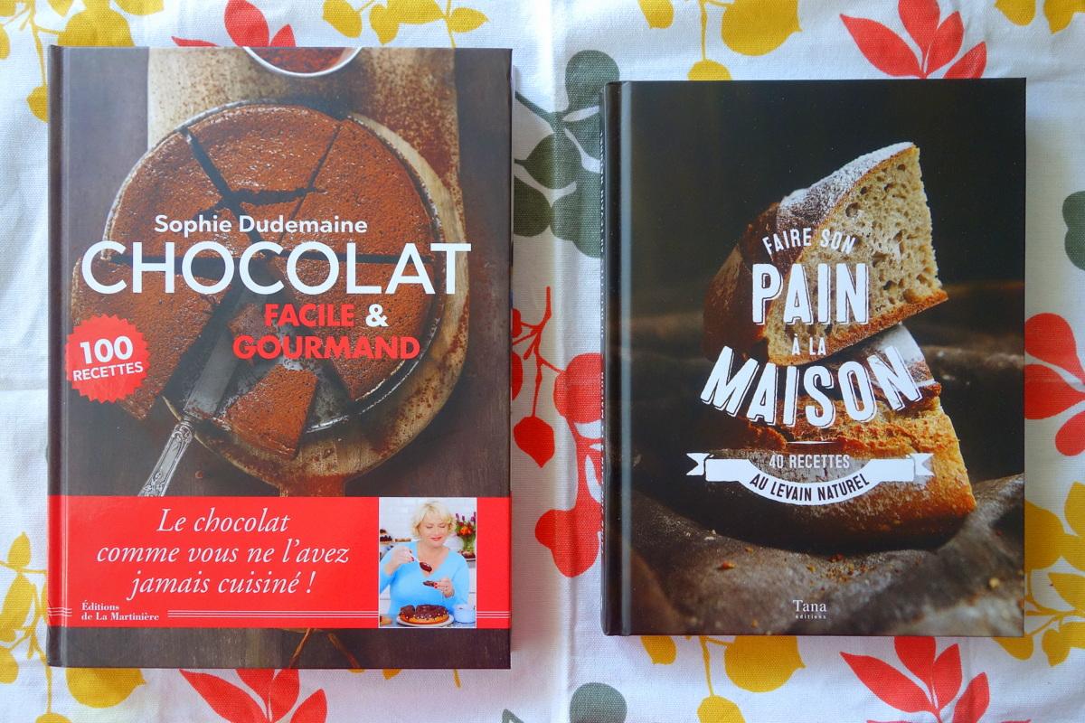 Livres de recettes : Faire son pain à la maison & Chocolat facile et gourmand