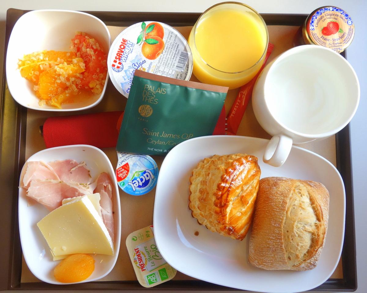 Un petit-déjeuner à bord du Thalys