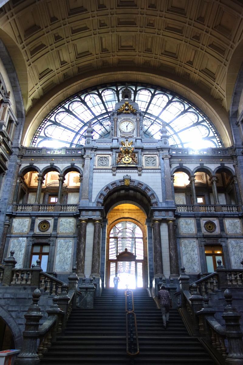La gare d'Anvers, en Flandre - Photo : Le blog de Lili