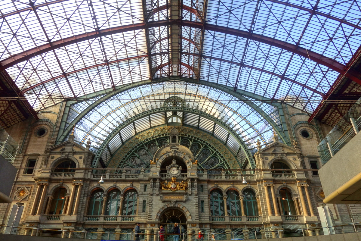 La gare d'Anvers, en Flandre - Photo : Le blog de Lili