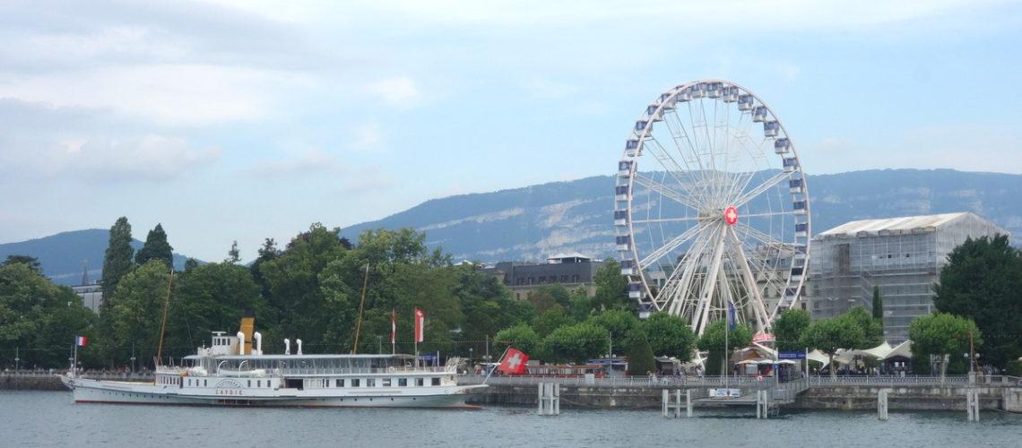 Le lac Léman et la grande roue de Genève
