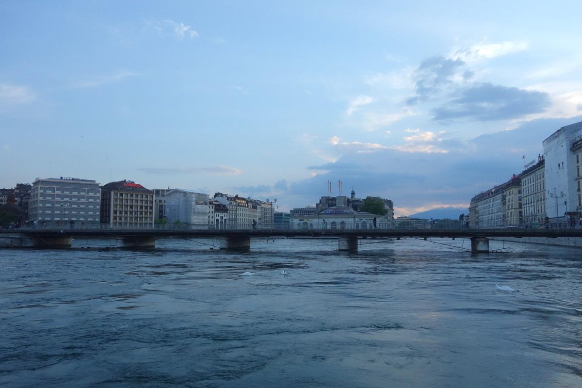 Genève, une ville suisse sur la rive du lac Léman