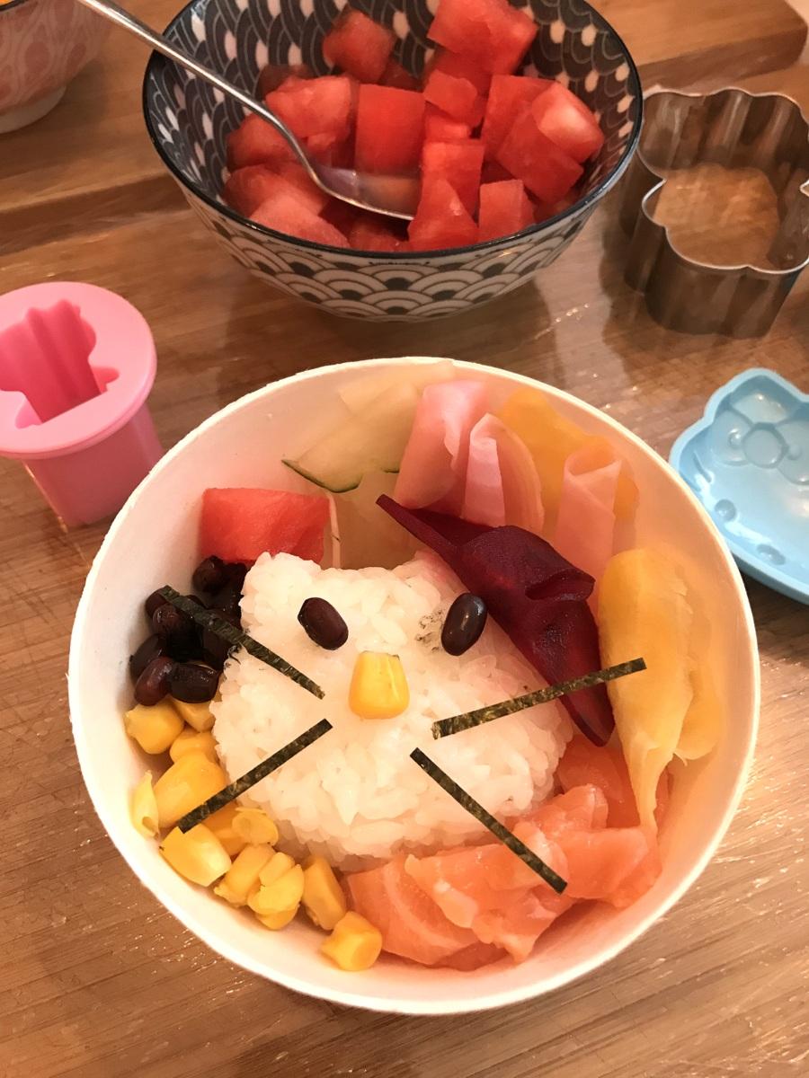 Hello Kitty à l'Umami Matcha Café avec Pôdevache
