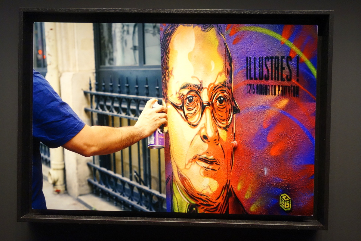 Street art à Paris - Illustres ! C215 au Panthéon