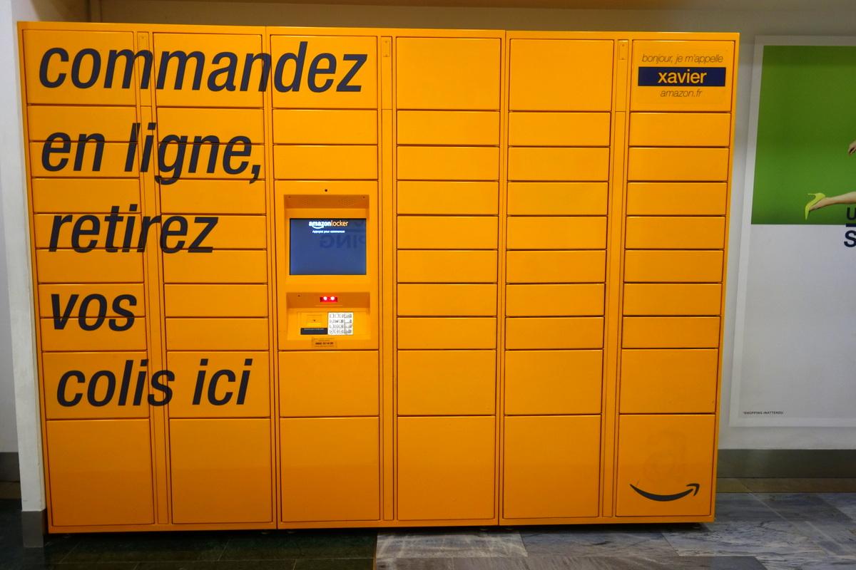 Centre commercial Vélizy 2 - Casiers Amazon