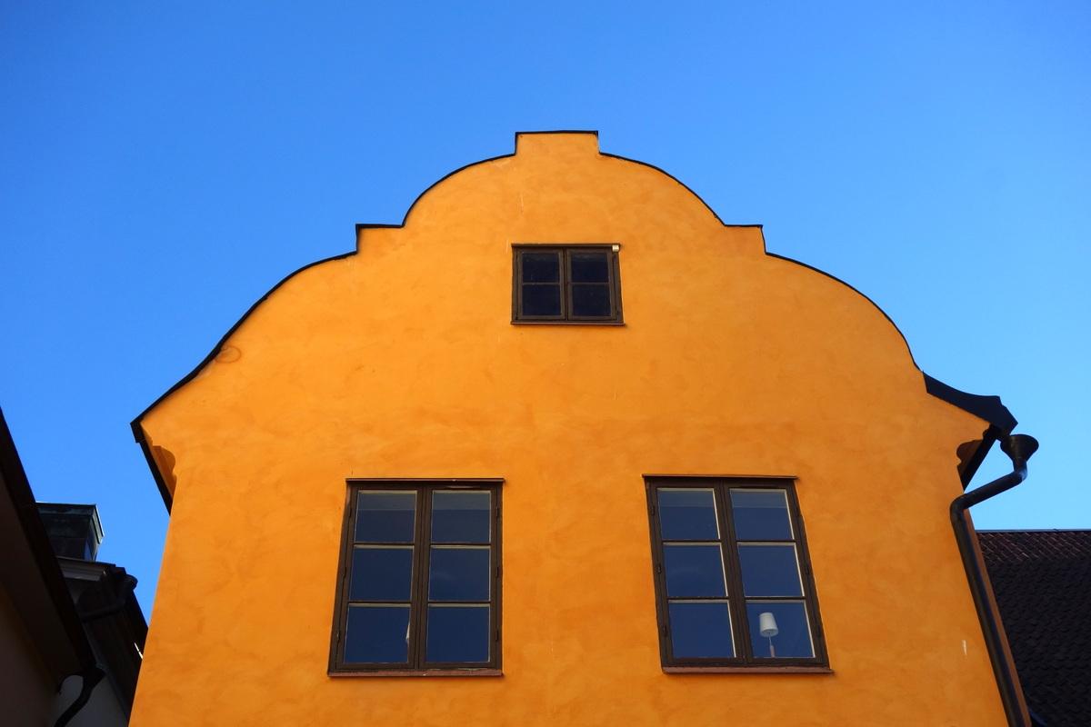 Stockholm - Une façade de Gamla Stan