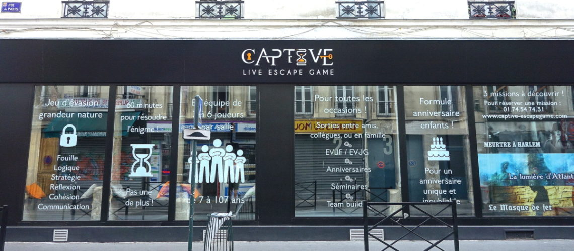 Captive live escape game
