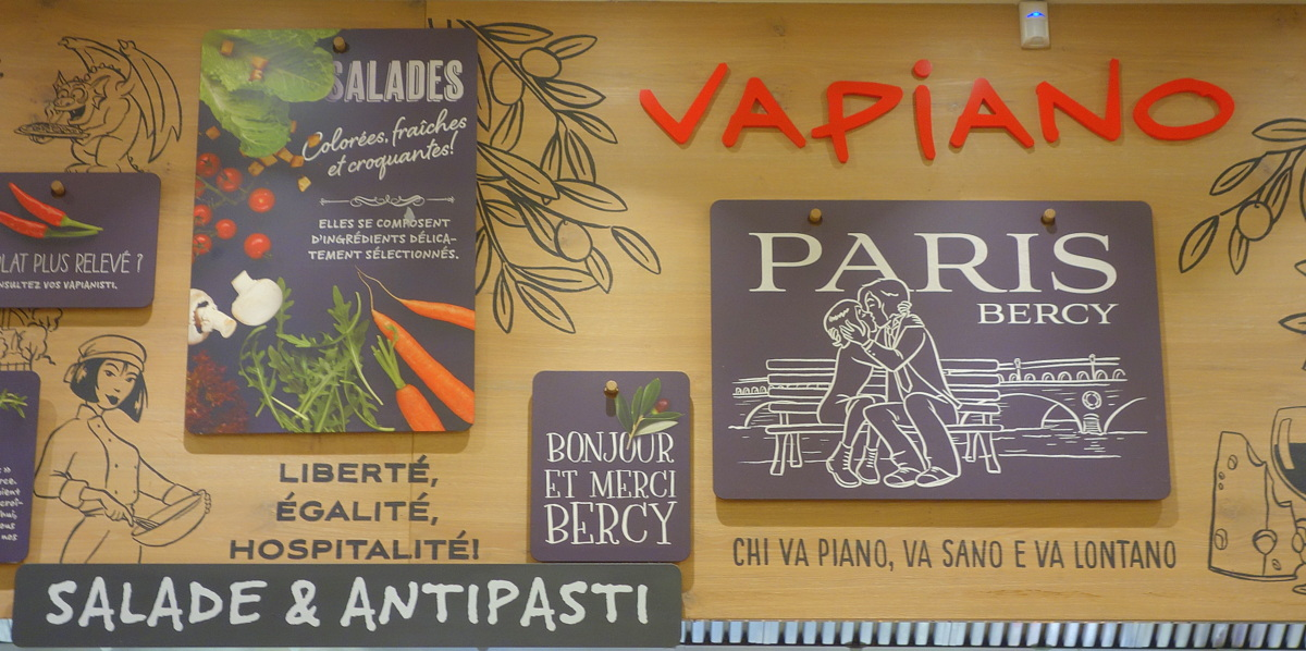 Vapiano Bercy - Carte automne 2018