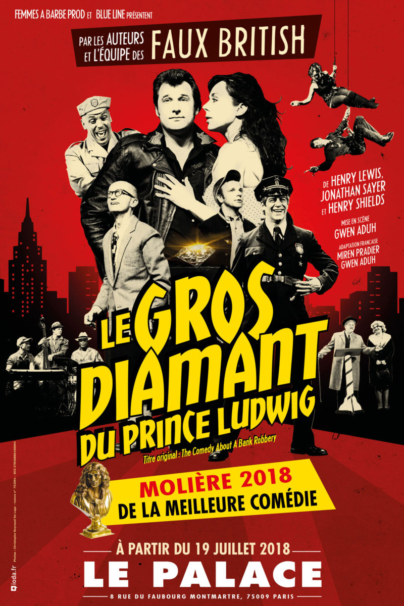 Le gros diamant du prince Ludwig - Affiche
