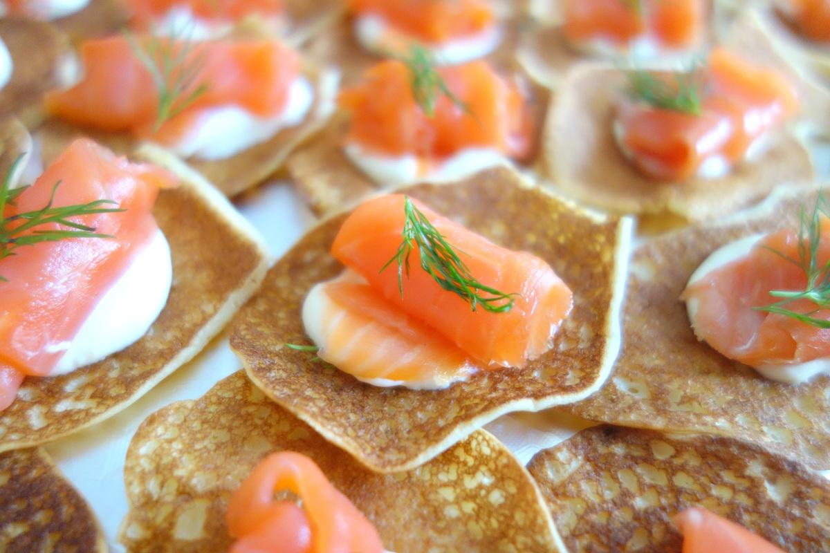 Repas de Noël 2018 - Blinis au saumon