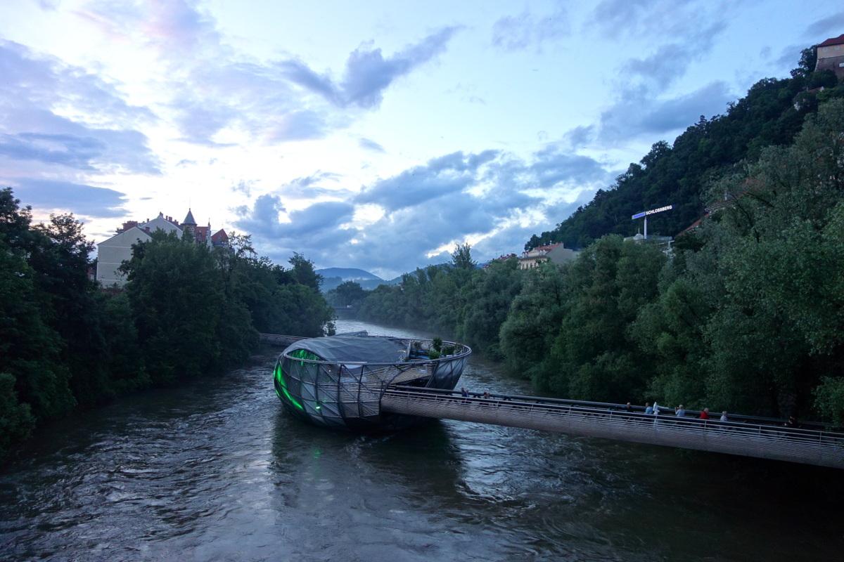 Voyage en Autriche - Graz - Murinsel